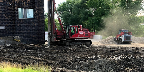 Northfield Fire Station ground improvement